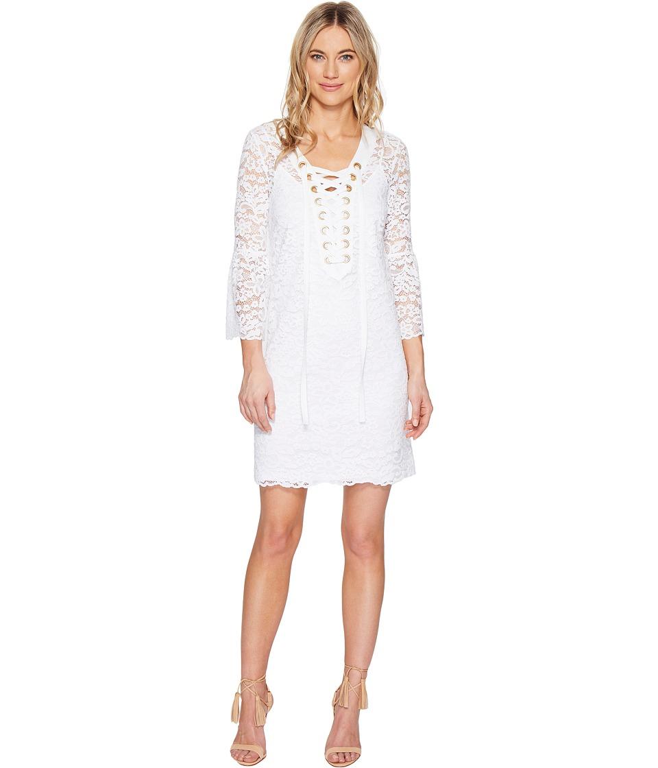 kensie - Femme Lace Dress KS5K7571 (White) Women's Dress