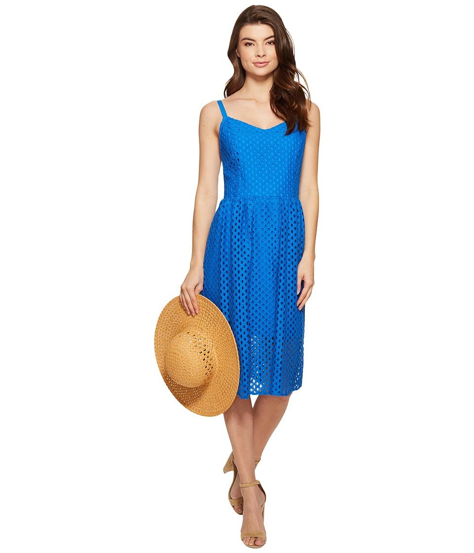 kensie - Open Mech Lace Dress KS4K7686 (Vivid Blue) Women's Dress