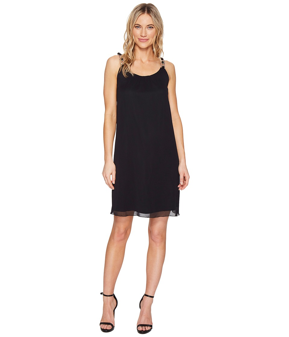 kensie Crinkle Chiffon Dress KS5K9669 (Black) Women