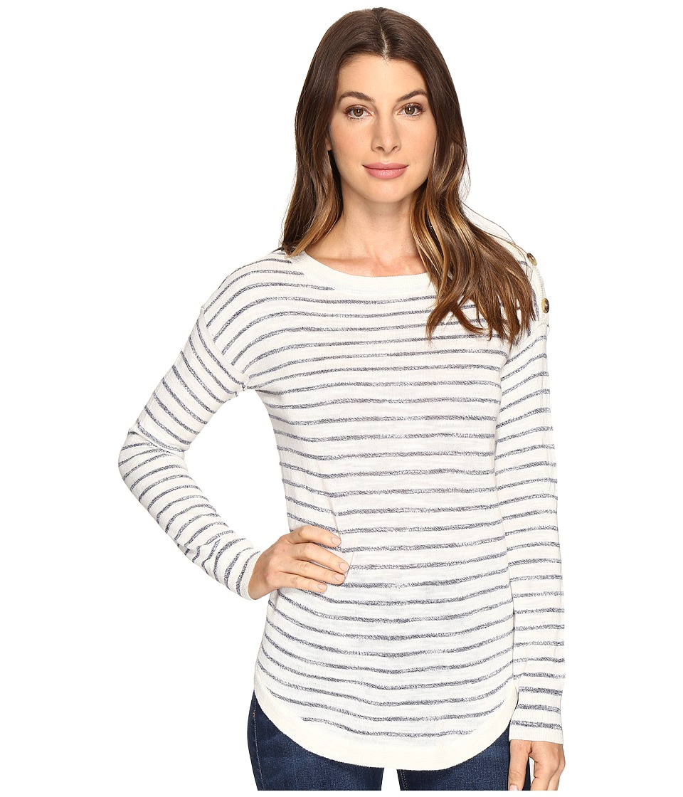 Splendid - Topsail Stripe Pullover (Natural/Academy Navy) Women's Long Sleeve Pullover