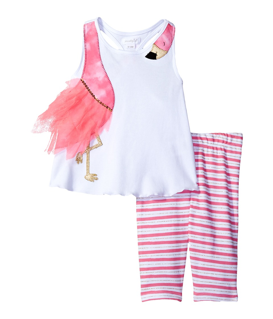 Mud Pie - Flamingo Short Set (Toddler) (Pink) Girl's Active Sets