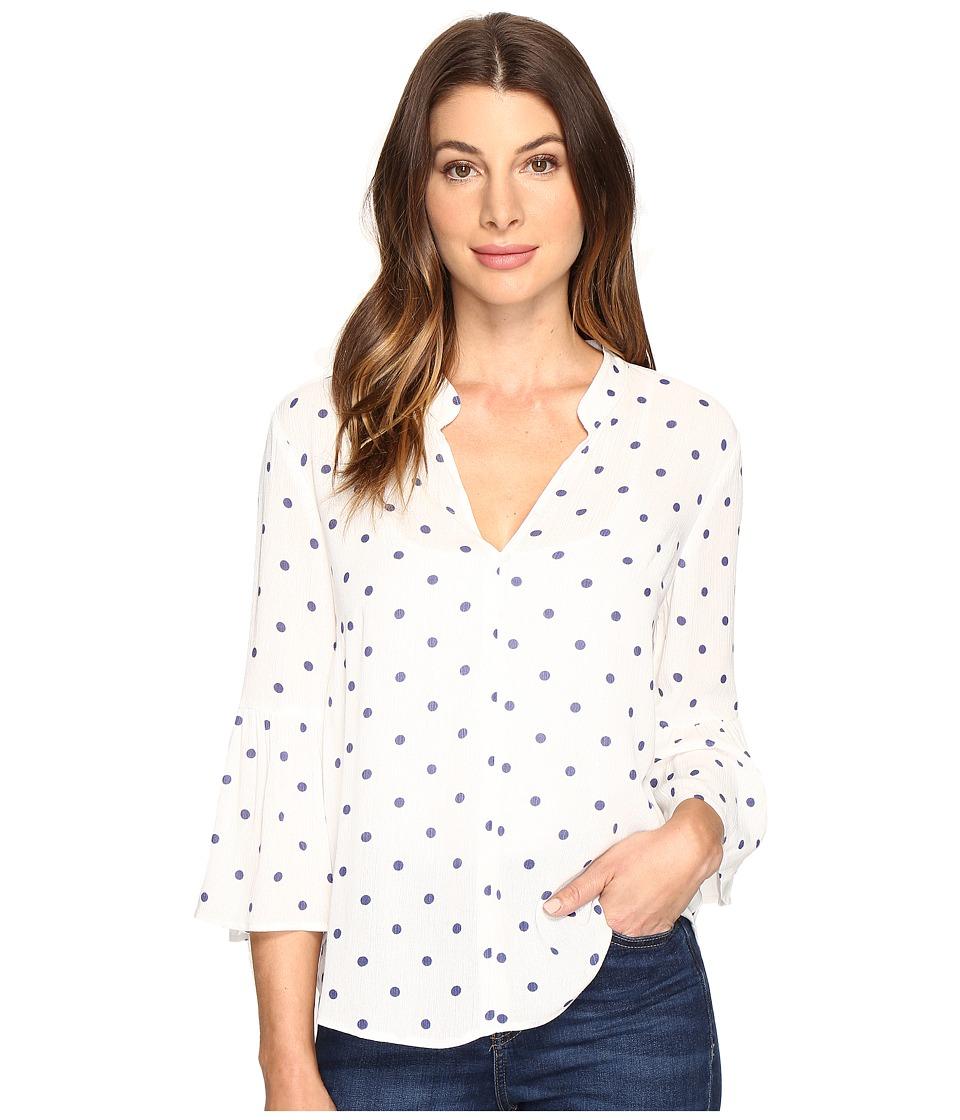 Splendid - Lacy Polka Dot Oversize Blouse (Natural) Women's Blouse
