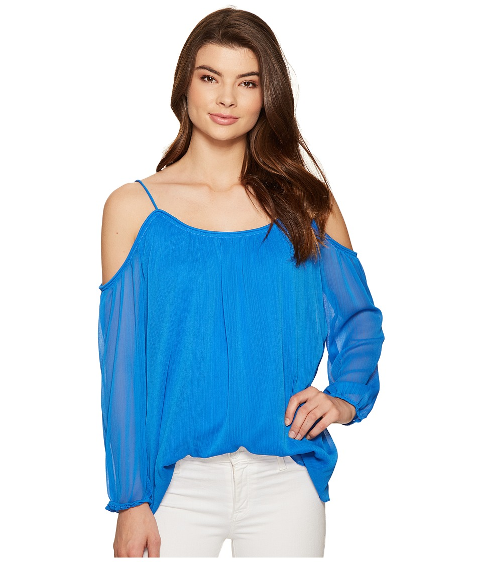 kensie - Crinkle Chiffon Top KS5K4302 (Vivid Blue) Women's Clothing
