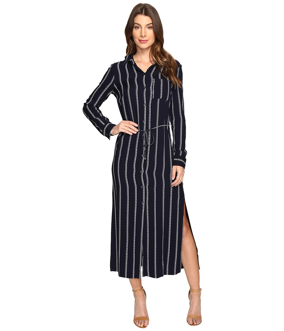 Splendid - Rope Print Maxi Dress (Navy) Women's Dress