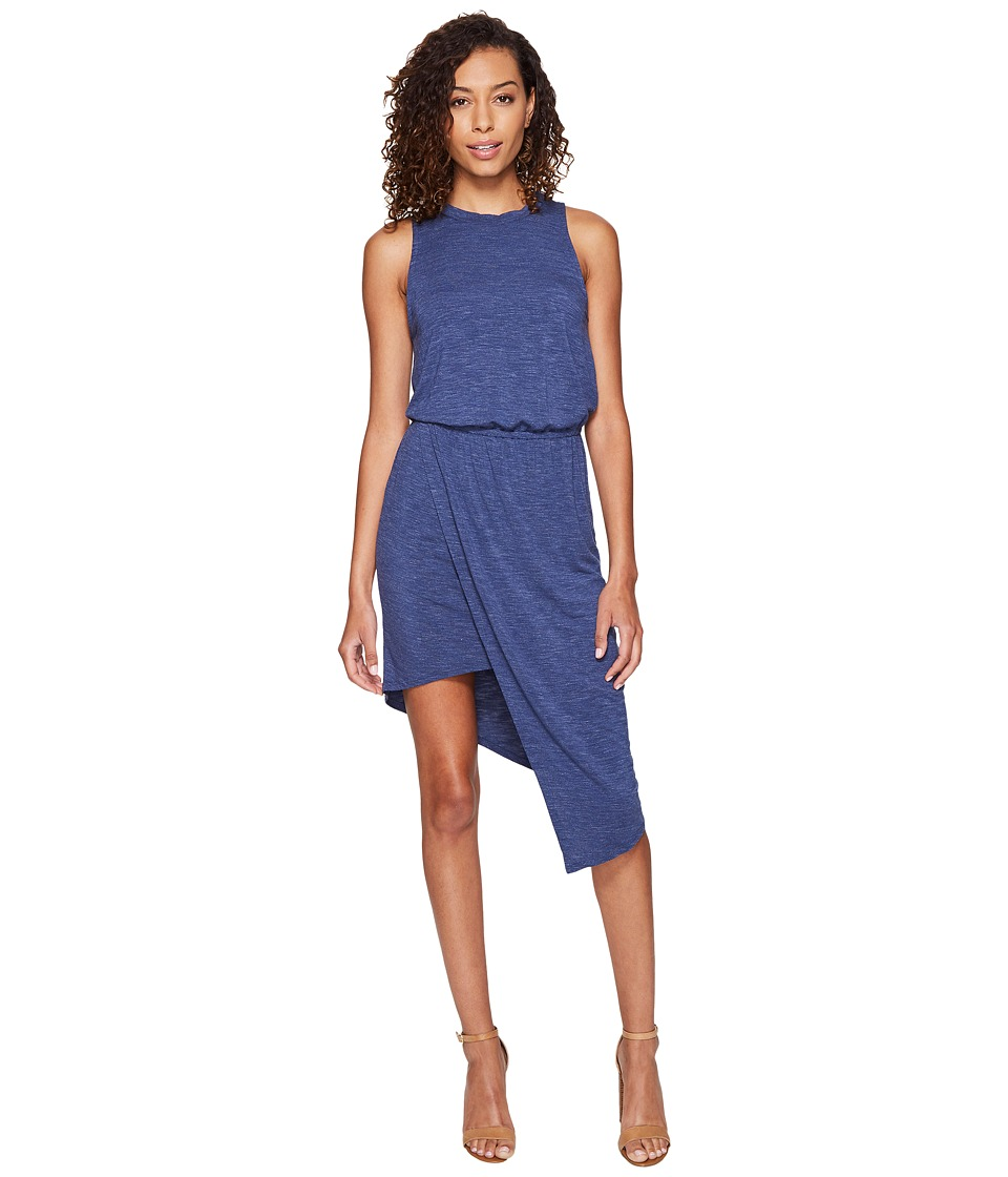 Splendid - Heathered Asymmetrical Dress (Moonlight Blue) Women's Dress