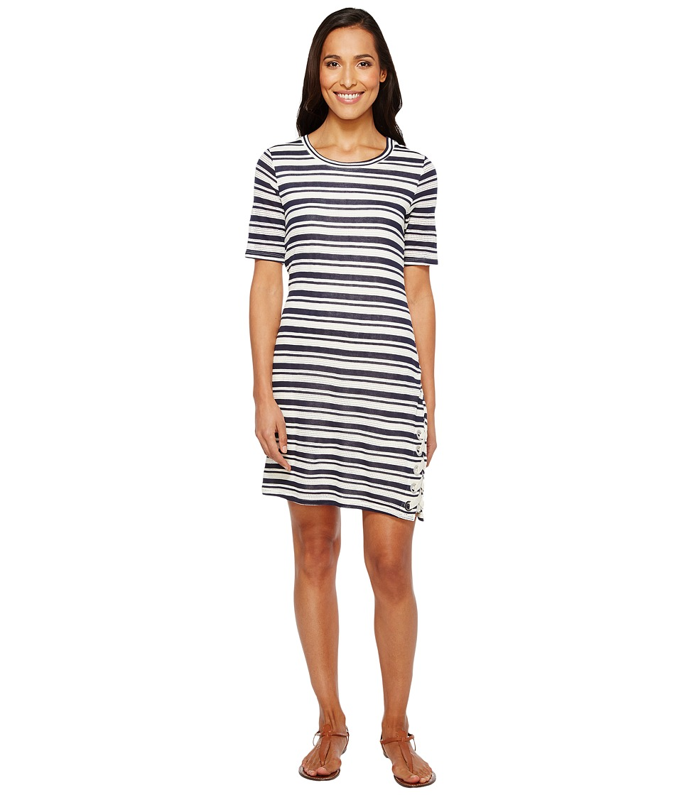 Splendid - Topsail Stripe Bodycon Dress (White/Navy) Women's Dress