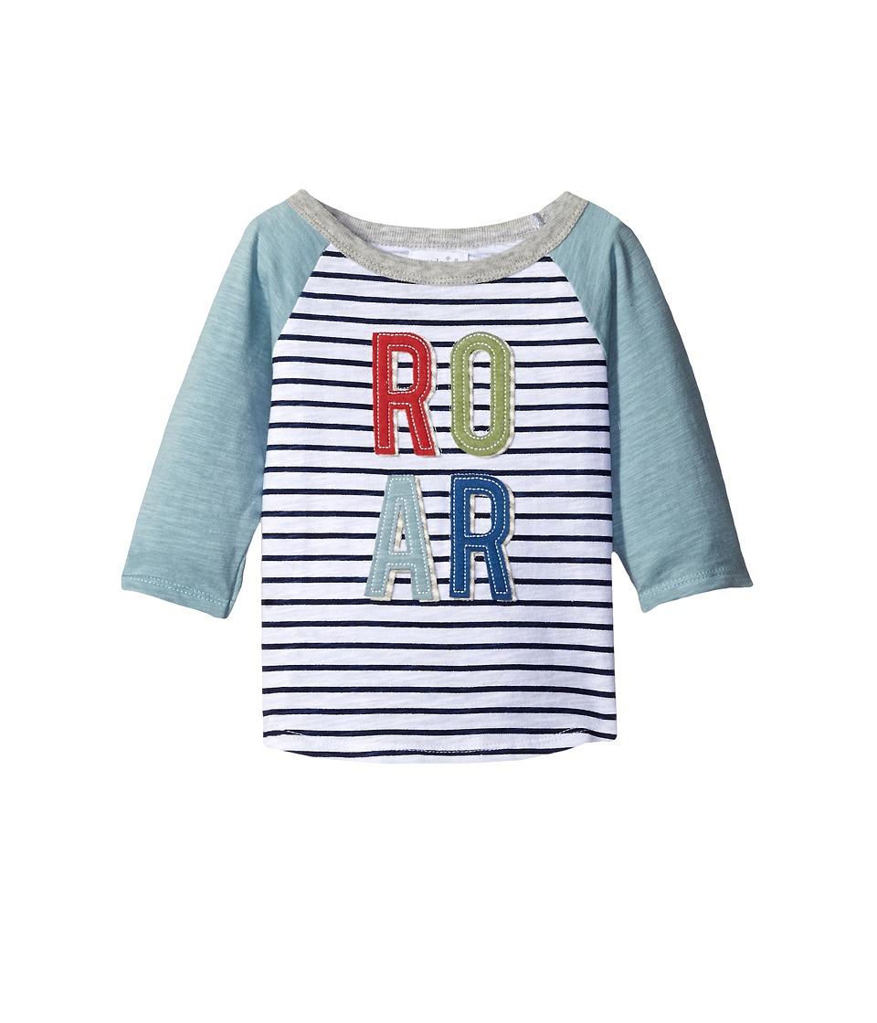Mud Pie - Roar Raglan T-Shirt (Infant/Toddler) (Blue) Boy's T Shirt
