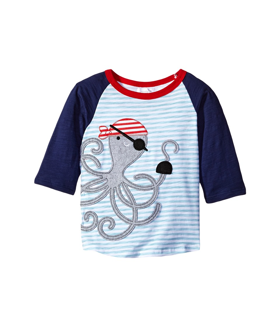 Mud Pie - Pirate Octopus T-Shirt (Infant/Toddler) (Blue) Boy's T Shirt