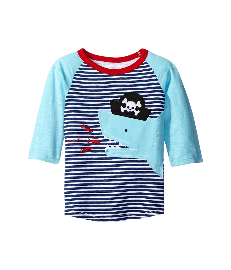 Mud Pie - Pirate Shark T-Shirt (Infant/Toddler) (Blue) Boy's T Shirt