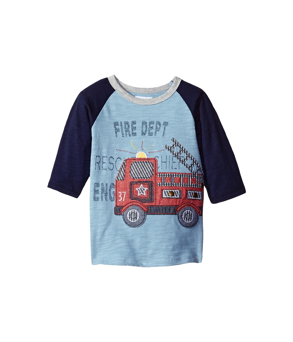 Mud Pie - Firetruck T-Shirt (Infant/Toddler) (Blue) Boy's T Shirt