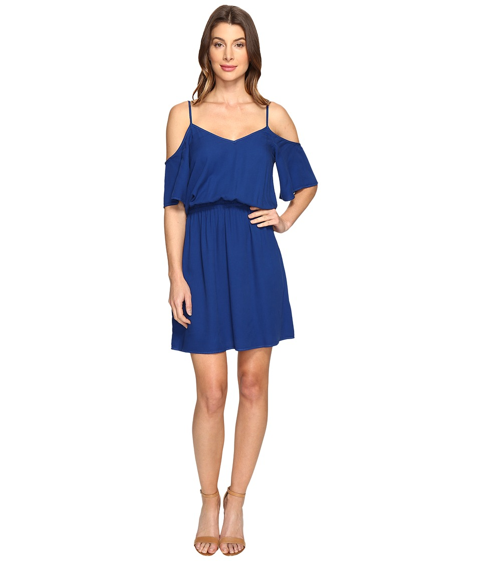 Splendid - Rayon Crosshatch Cold Shoulder Dress (Royal Azure) Women's Dress