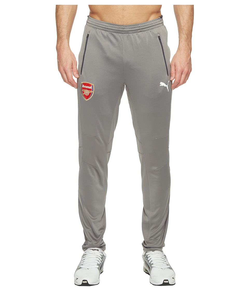 PUMA - AFC Training Pants with 2 Side Pockets with Zip (Steel Gray/Ebony) Men's Casual Pants