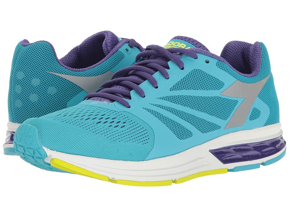 Diadora - Kuruka (Fluo Cyan Blue/Heliotrope/Silver) Women's Shoes
