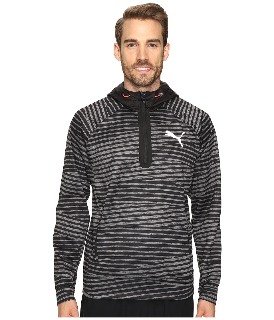 PUMA - Tech Fleece Halo Pullover (Black/White/Asphalt) Men's Fleece