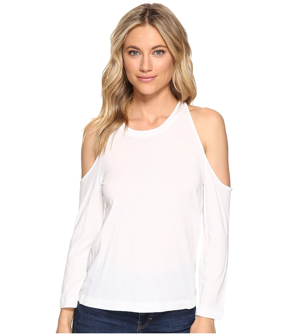Splendid - Very Light Jersey Cold Shoulder Tee (White) Women's T Shirt