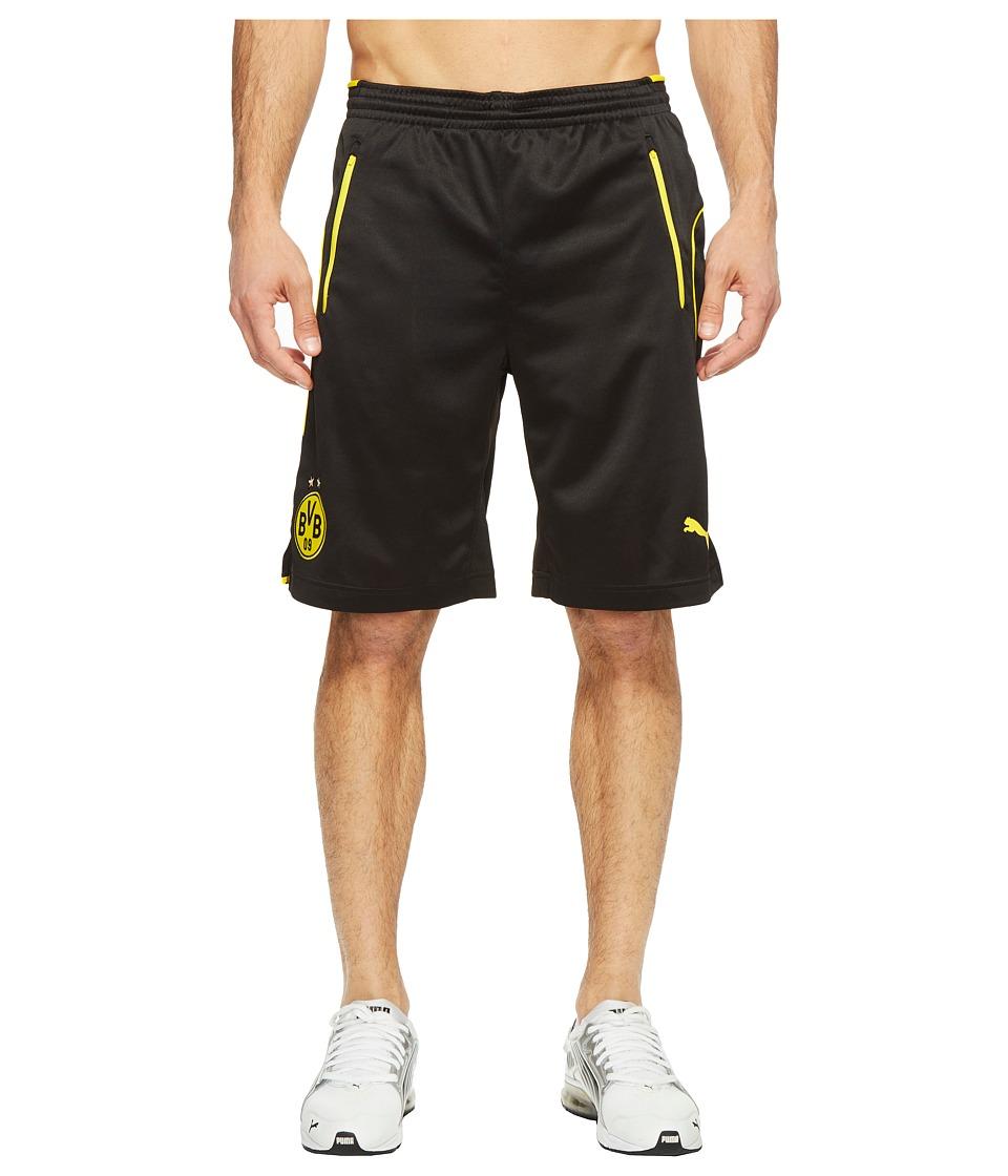 PUMA - BVB Training Shorts with Pockets (Black/Cyber Yellow) Men's Shorts