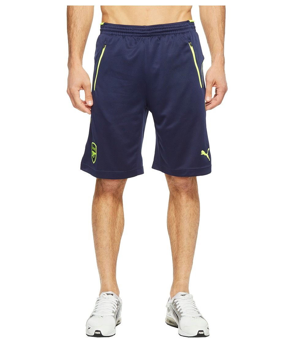 PUMA AFC Training Shorts (Peacoat/Safety Yellow) Men