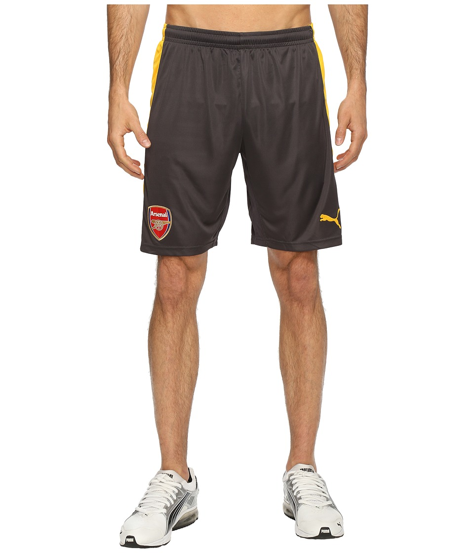 PUMA - AFC Replica Shorts with Innerslip (Ebony/Spectra Yellow) Men's Shorts