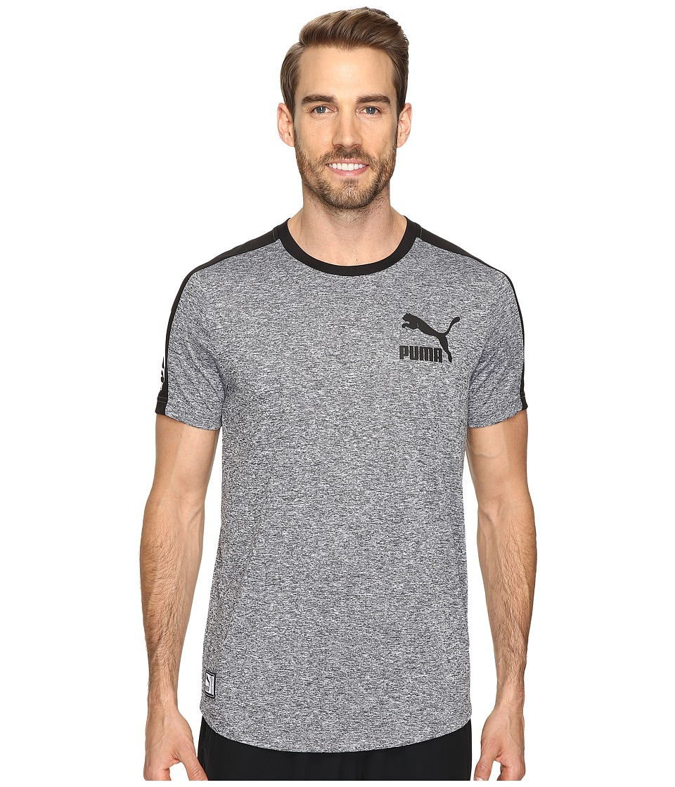 PUMA Short Sleeve Ball Jersey (Steel Gray/Heather/Black) Men