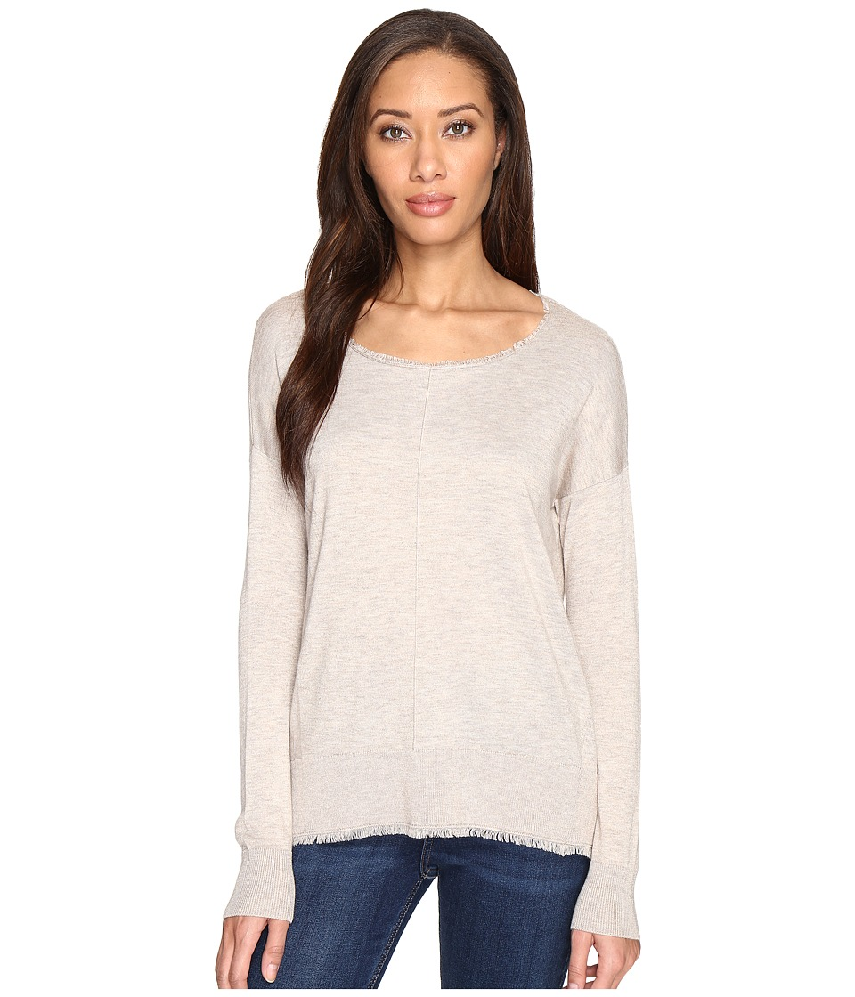Splendid - Ayers Fray Pullover (Heather Oatmeal) Women's Long Sleeve Pullover