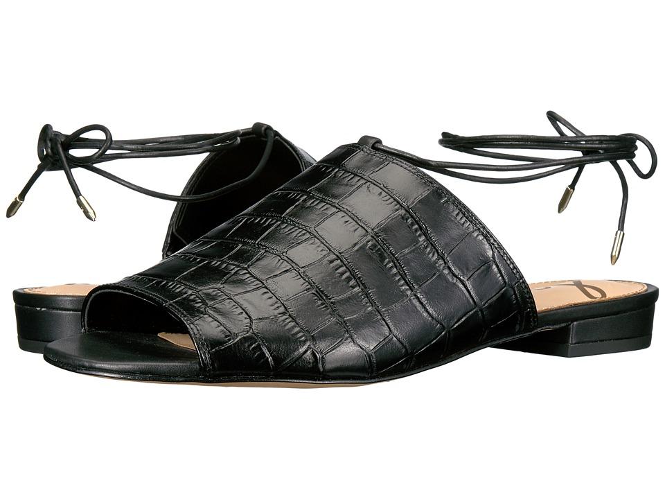 Sam Edelman - Tai (Black Suraze Shiny Croco Leather) Women's 1-2 inch heel Shoes