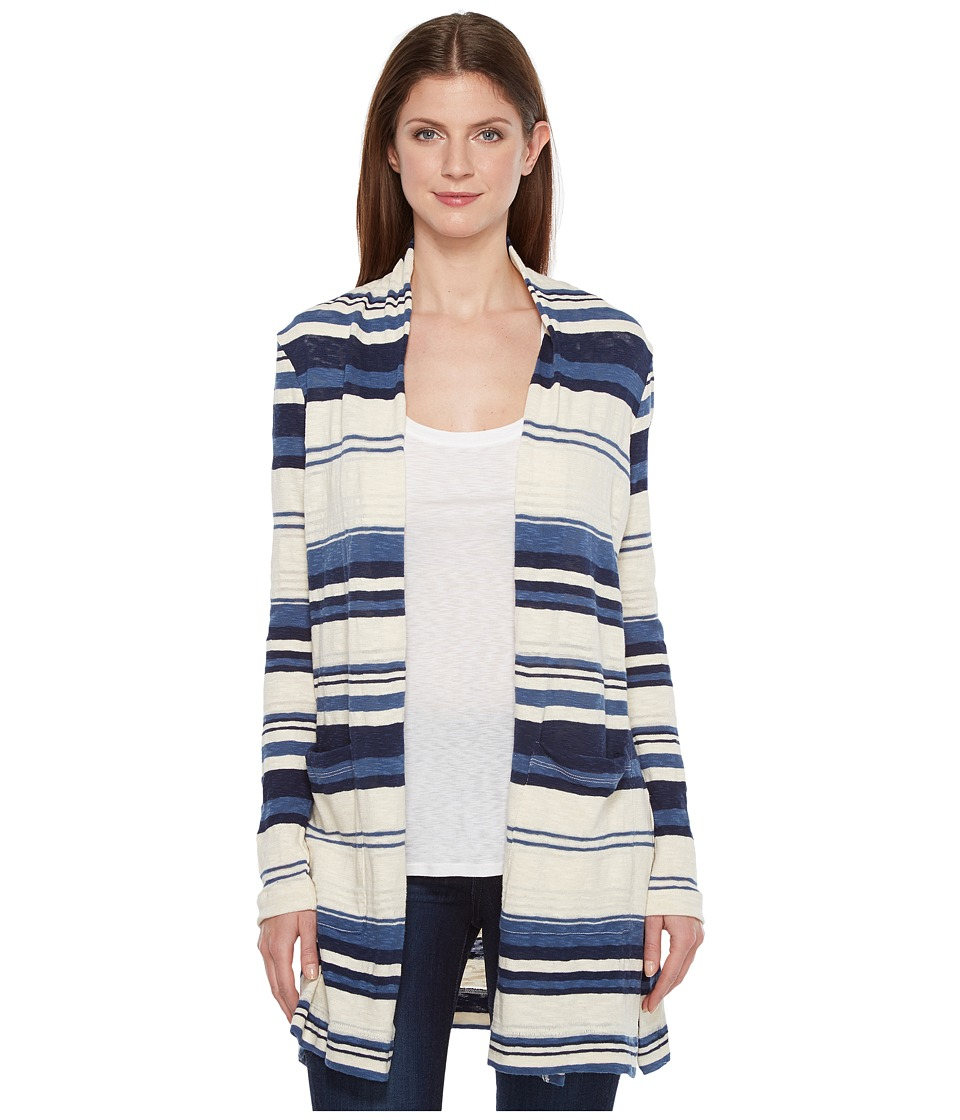Splendid - Stripe Caftan Cardigan (Navy) Women's Sweater