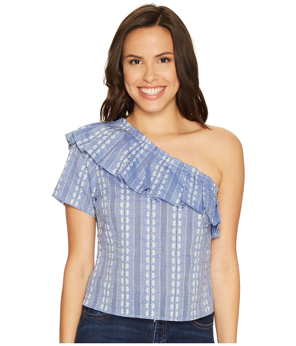 Splendid - Chambray One Shoulder Top (Chambray) Women's Clothing