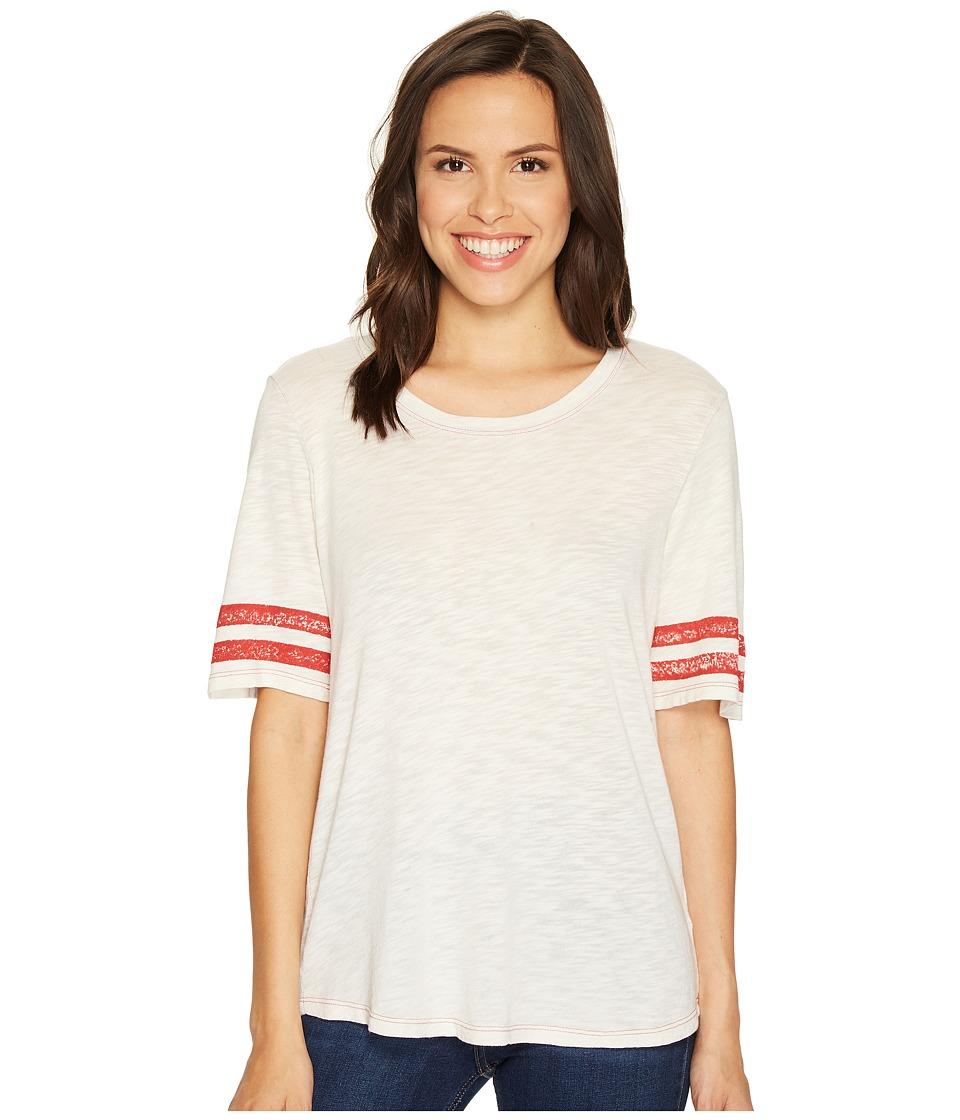 Splendid - Vintage Roller Rugby Stripe Tee (Cream) Women's T Shirt