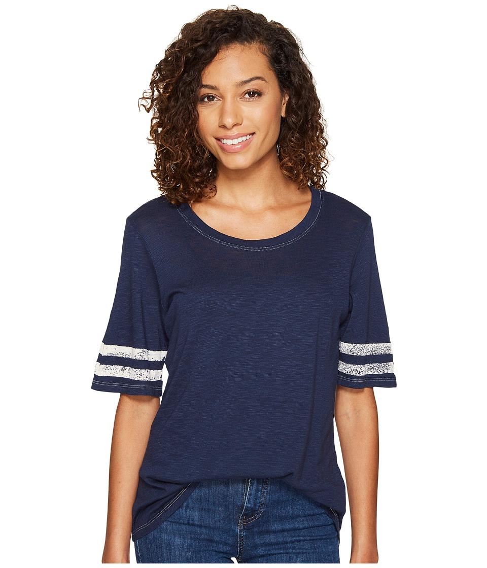 Splendid - Vintage Roller Rugby Stripe Tee (Navy) Women's T Shirt