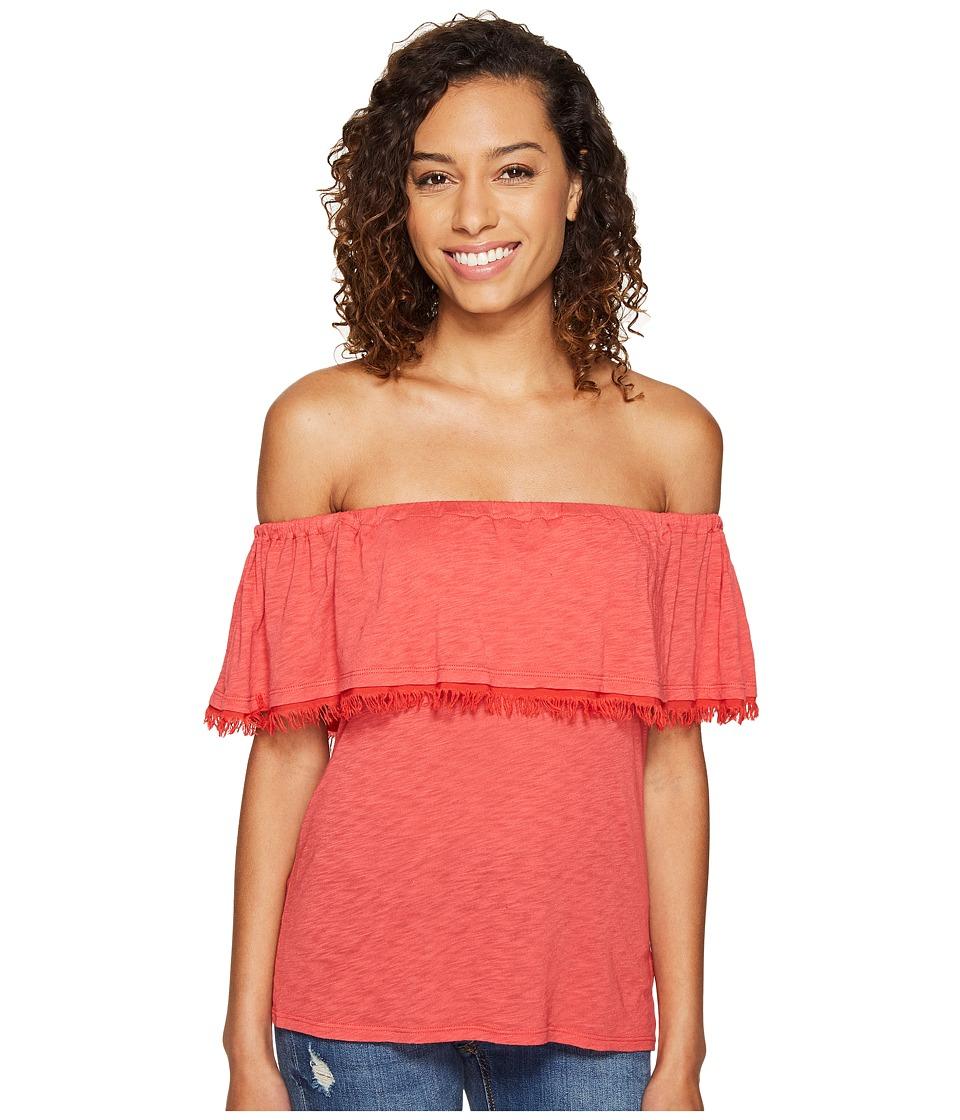 Splendid - Senorita Off Shoulder Top (Cape Red) Women's Clothing