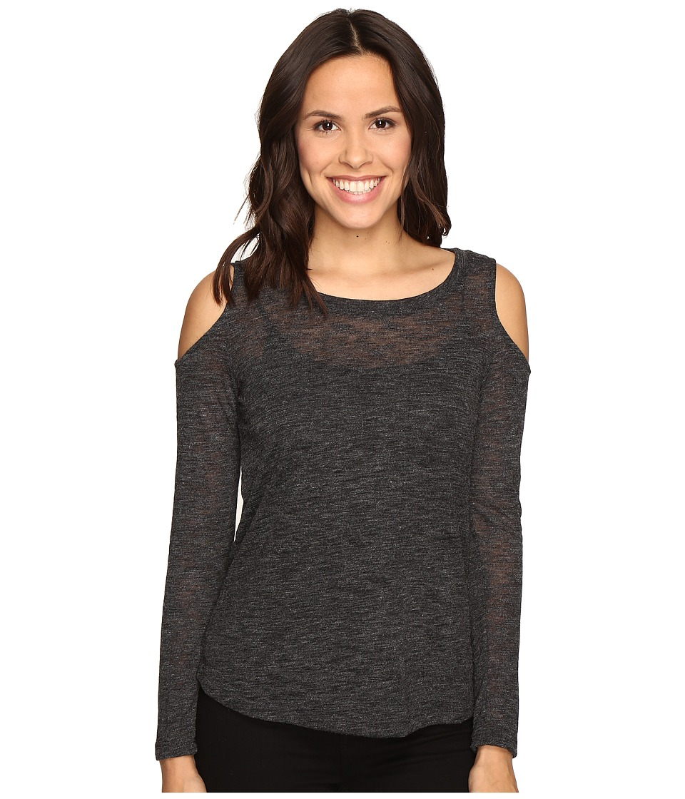 Splendid - Cold Shoulder Top (Charcoal) Women's Clothing