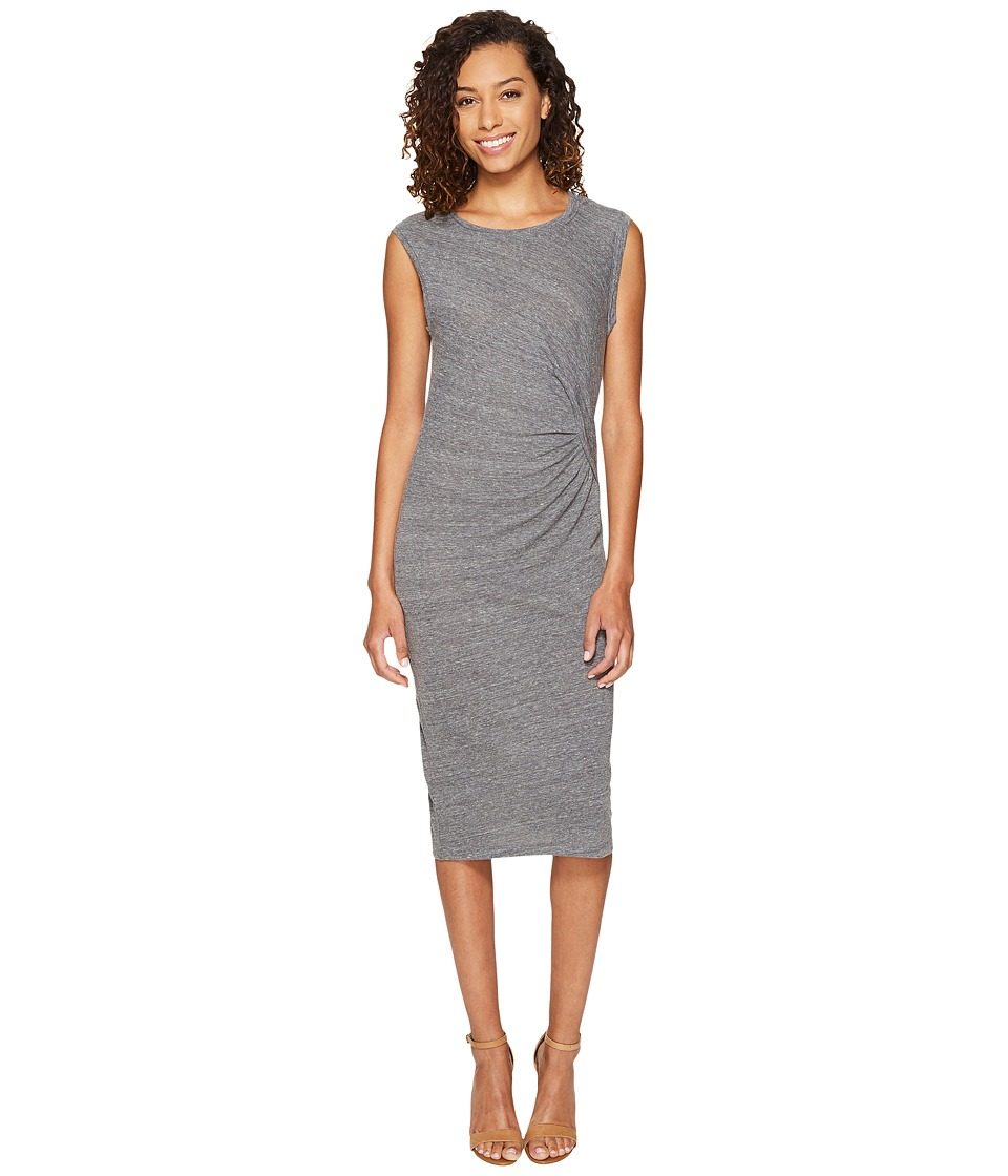 Splendid - Tri-blend Jersey Pleat Dress (Heather Grey) Women's Dress