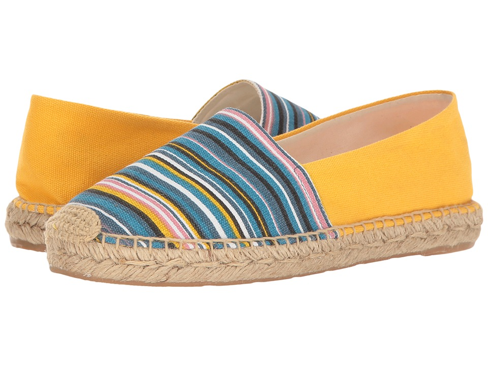Sam Edelman - Verona (Yellow Multi Mini Stripe Print Canvas) Women's 1-2 inch heel Shoes
