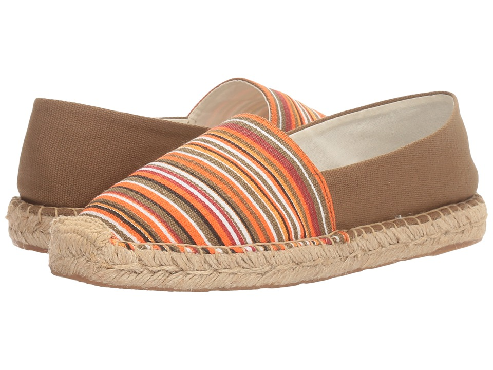 Sam Edelman - Verona (Olive Multi Mini Stripe Print Canvas) Women's 1-2 inch heel Shoes