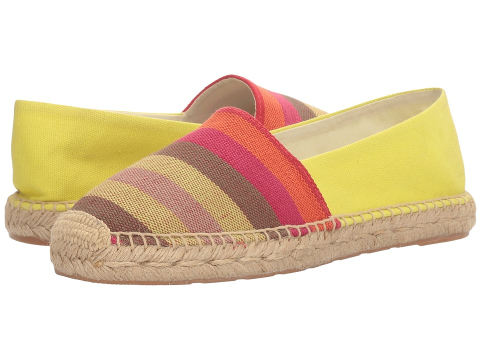 Sam Edelman - Verona (Citron Multi Wide Stripe Canvas Print) Women's 1-2 inch heel Shoes