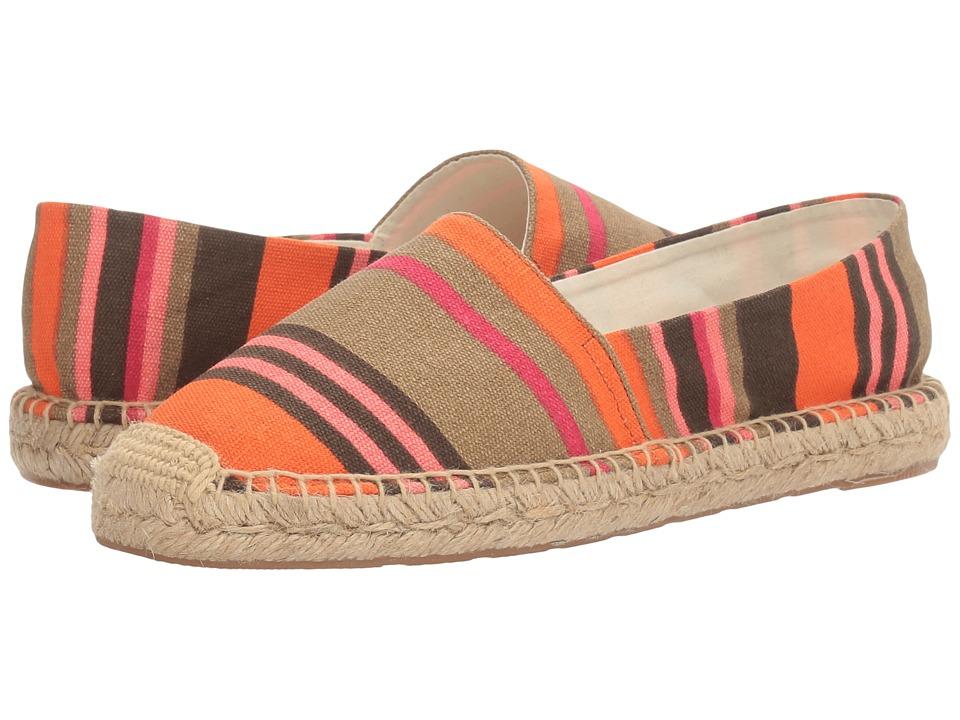 Sam Edelman - Verona (Orange/Pink Multi Stripe Print Canvas) Women's 1-2 inch heel Shoes