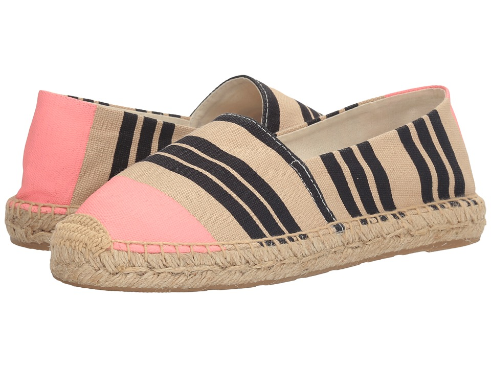 Sam Edelman - Verona (Navy/Pink Tri Stripe Print Canvas) Women's 1-2 inch heel Shoes