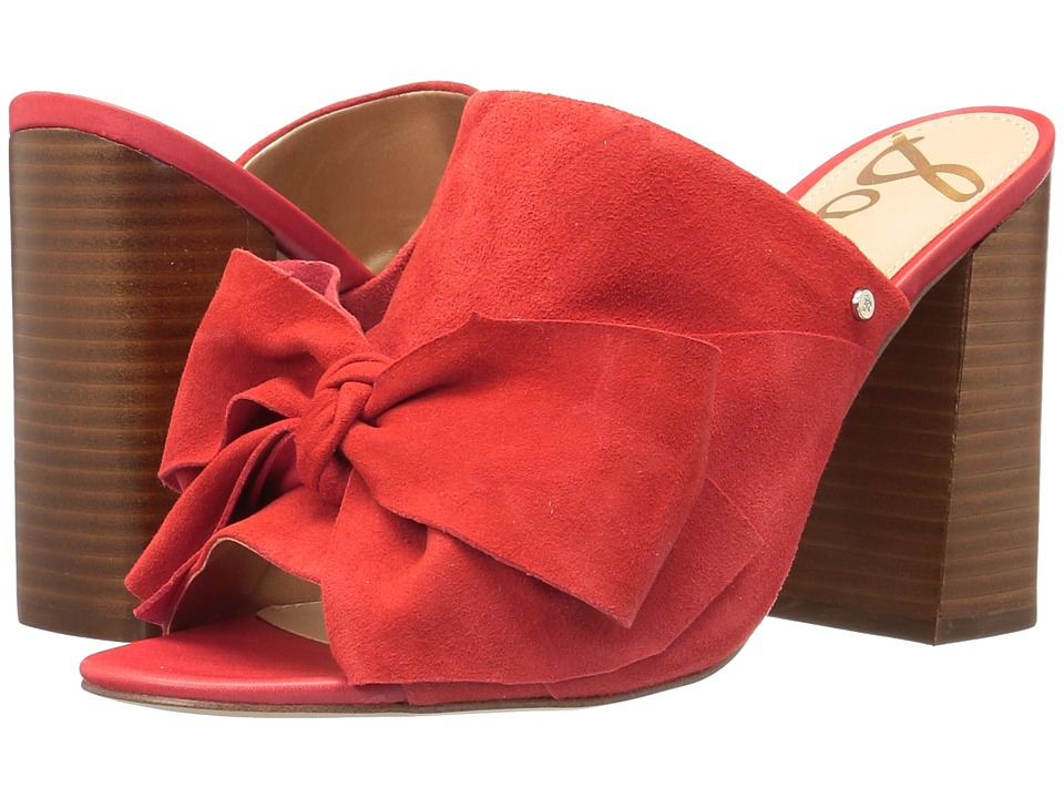 Sam Edelman - Yumi (Havana Red Kid Suede Leather) Women's 1-2 inch heel Shoes