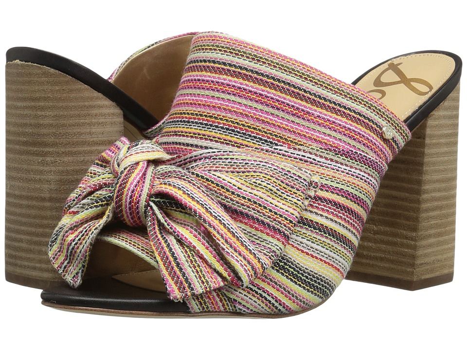 Sam Edelman - Yumi (Bright Multi Mini Woven Stripe Fabric) Women's 1-2 inch heel Shoes