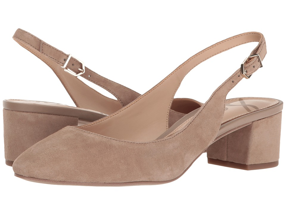Sam Edelman - Lorene (Oatmeal Kid Suede Leather) Women's 1-2 inch heel Shoes