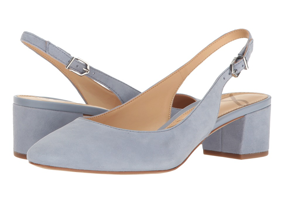 Sam Edelman - Lorene (Dusty Blue Kid Suede Leather) Women's 1-2 inch heel Shoes