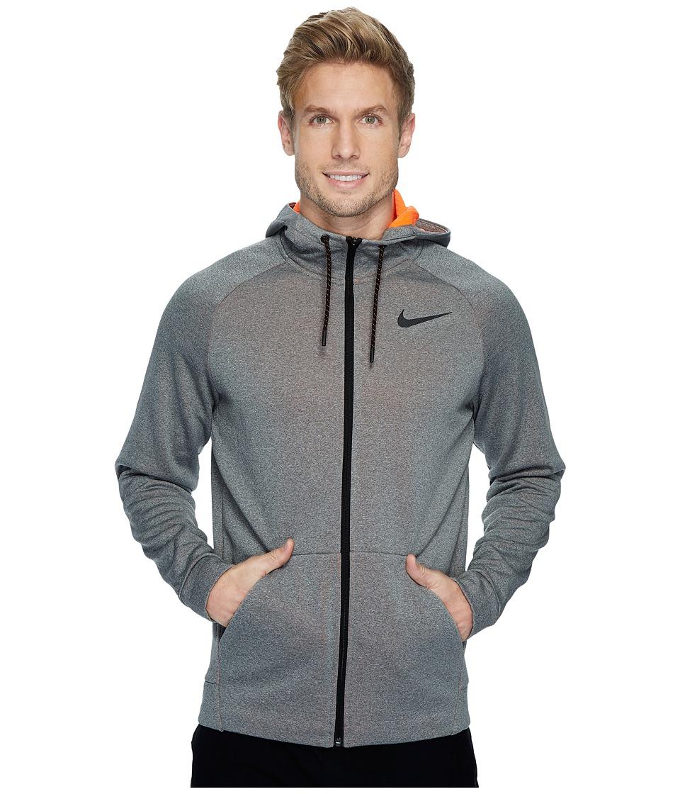 Nike Therma Sphere Full-Zip Training Jacket (Carbon Heather/Hyper Crimson/Black) Men