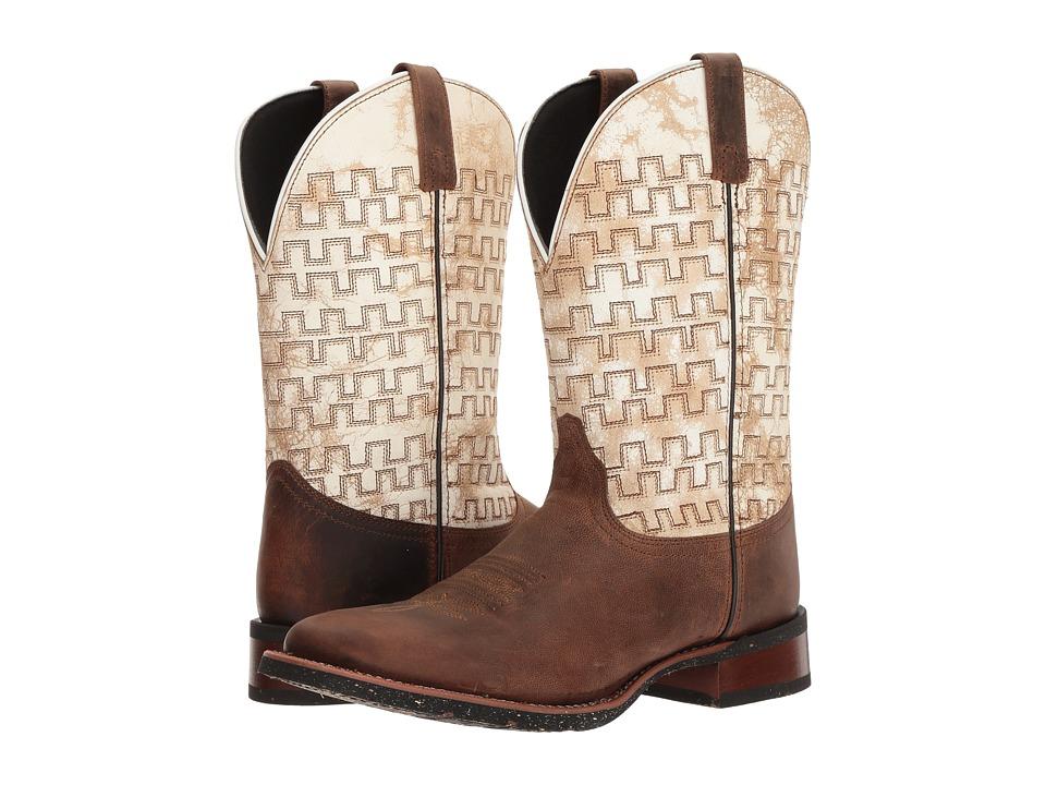 Laredo Sam (Sand/White) Cowboy Boots