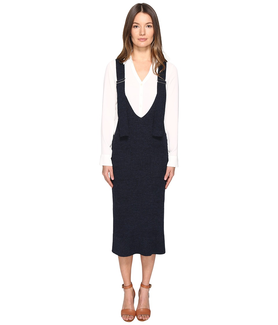 See by Chloe Wool Overall Dress (Indigo) Women