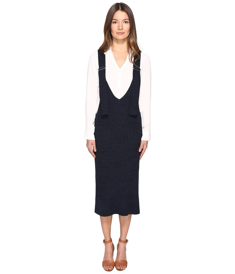See by Chloe - Wool Overall Dress (Indigo) Women's Dress