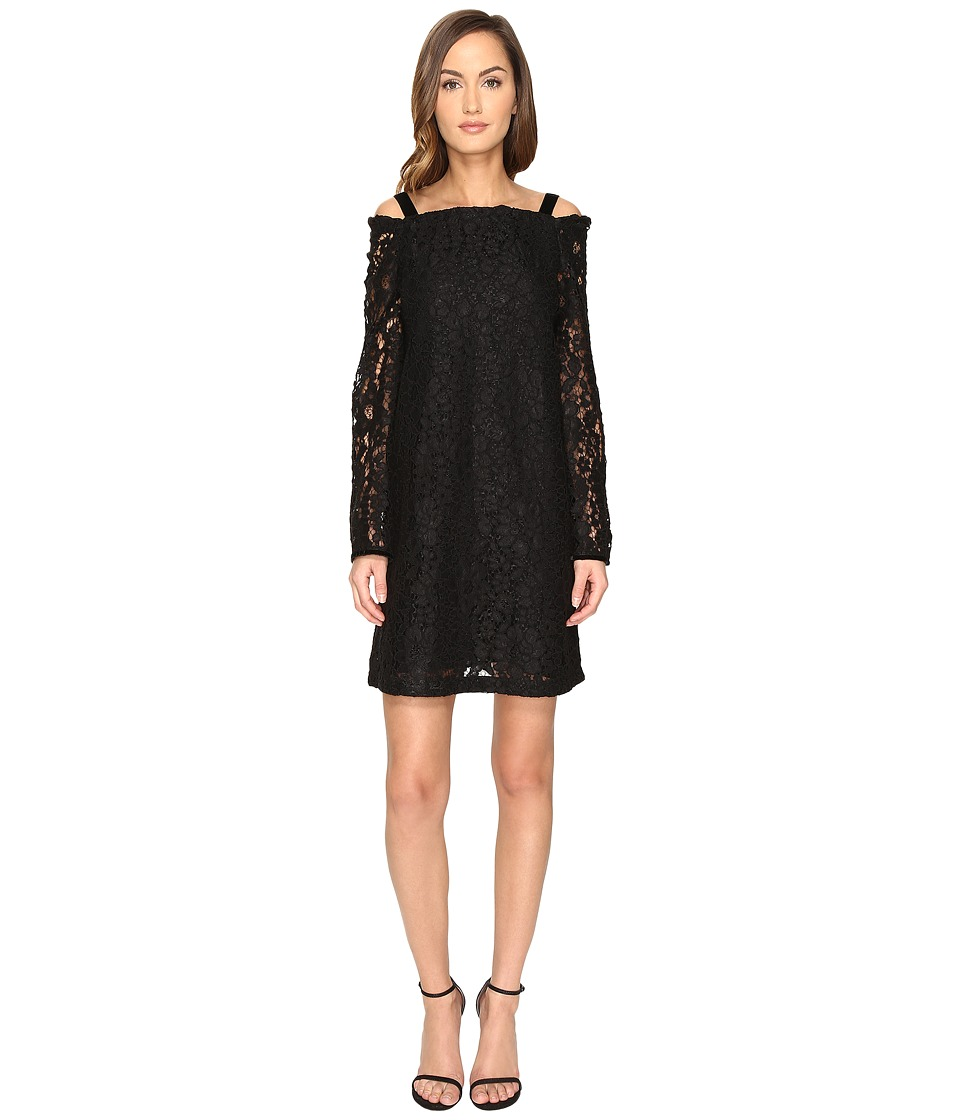 See by Chloe - Lace Long Sleeve Straps Dress (Black) Women's Dress