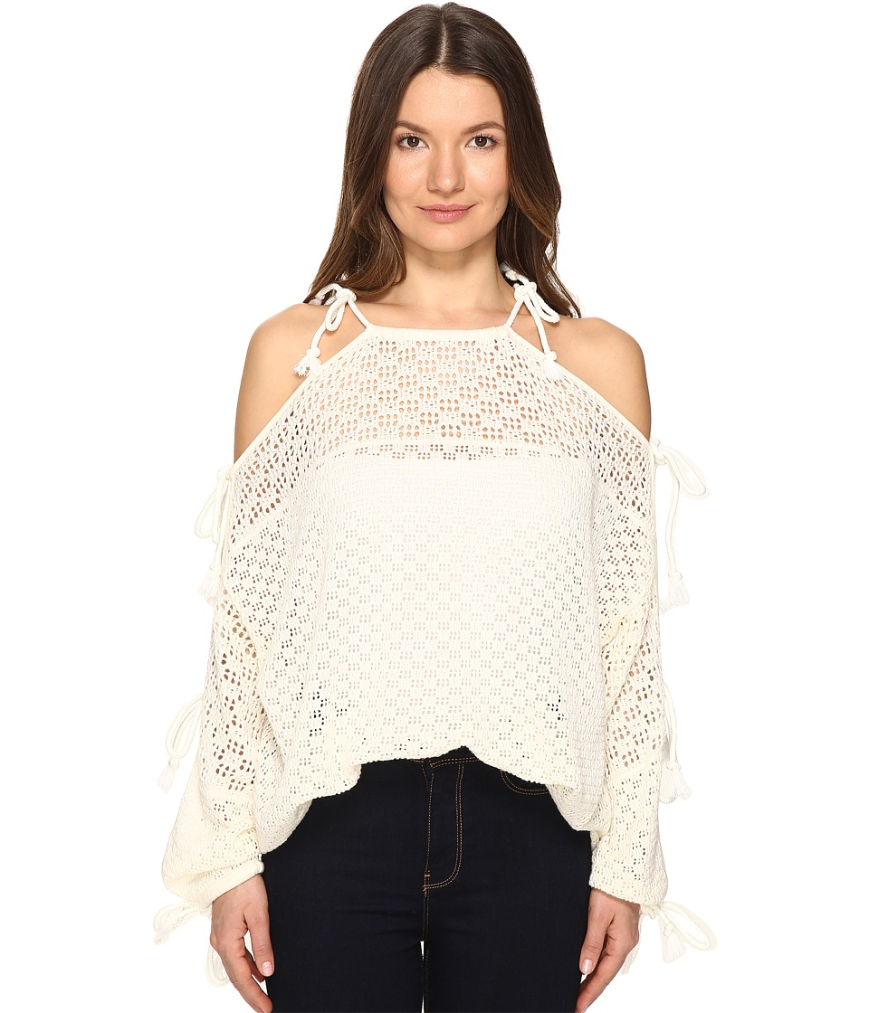 See by Chloe - Lace Ties Sweater (Cloud Dancer) Women's Sweater