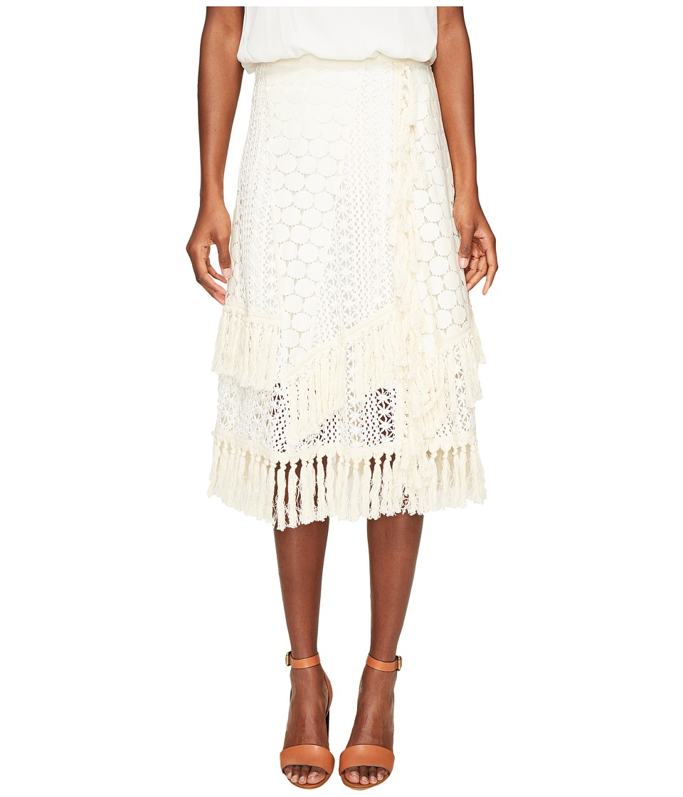 See by Chloe - Crochet Fringe Skirt (Off-White) Women's Skirt