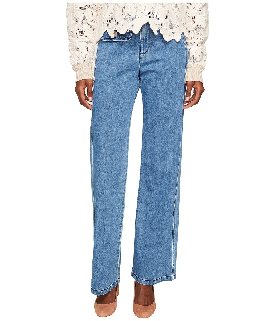 See by Chloe - Denim Pants (Washed Indigo) Women's Jeans