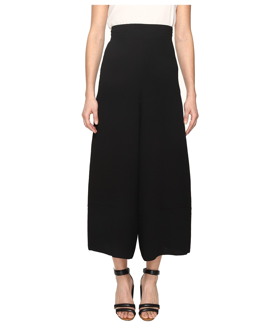 See by Chloe - Jacquard Wide Leg Pants (Black) Women's Casual Pants